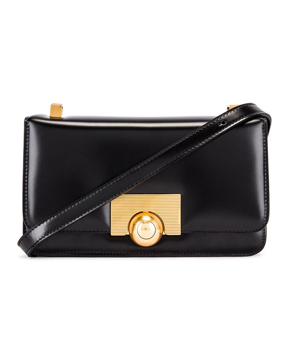 Image 1 of Bottega Veneta Brushed Leather Bag in Black & Gold