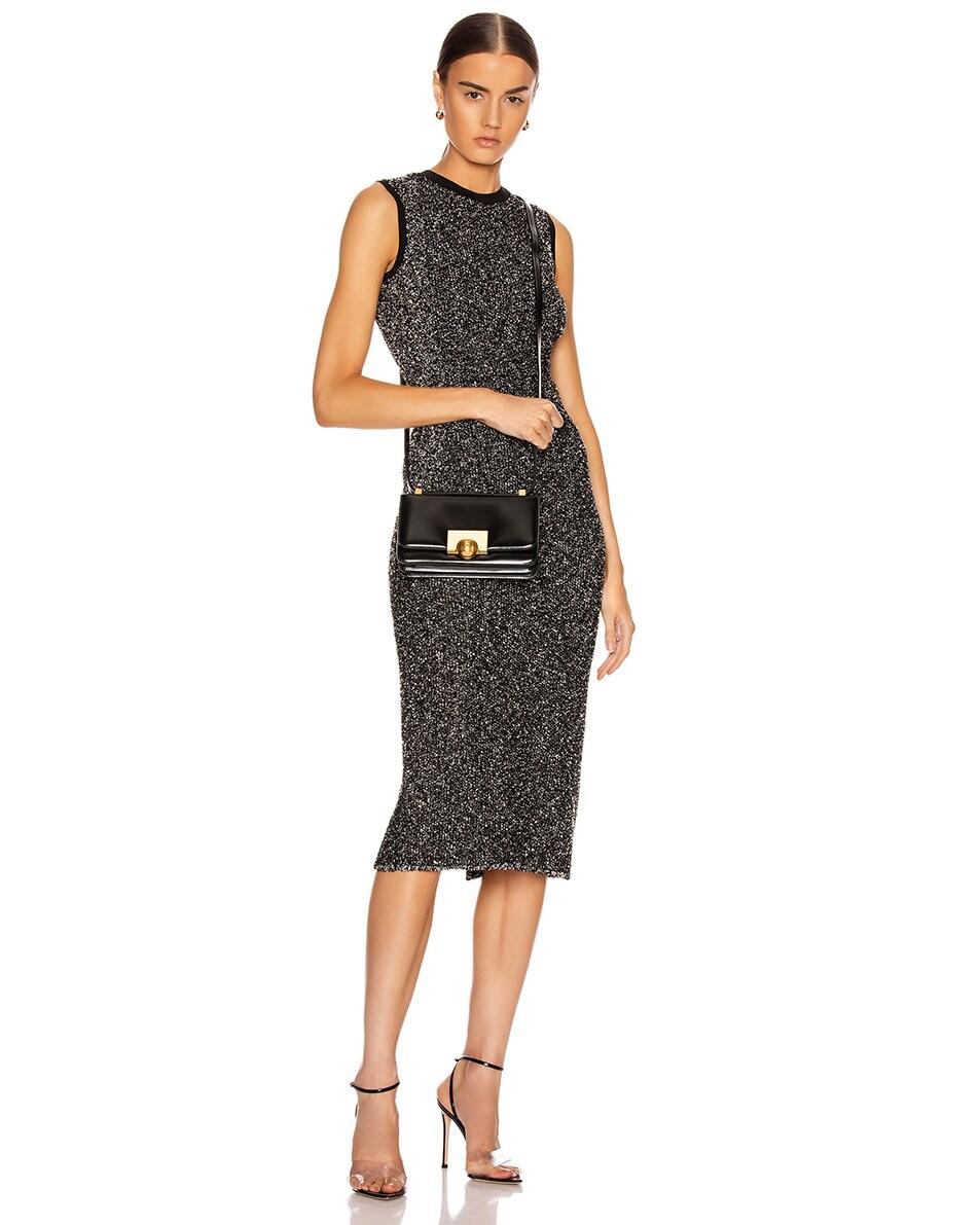 Image 2 of Bottega Veneta Brushed Leather Bag in Black & Gold
