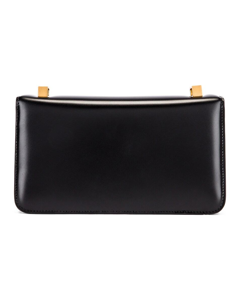 Image 3 of Bottega Veneta Brushed Leather Bag in Black & Gold