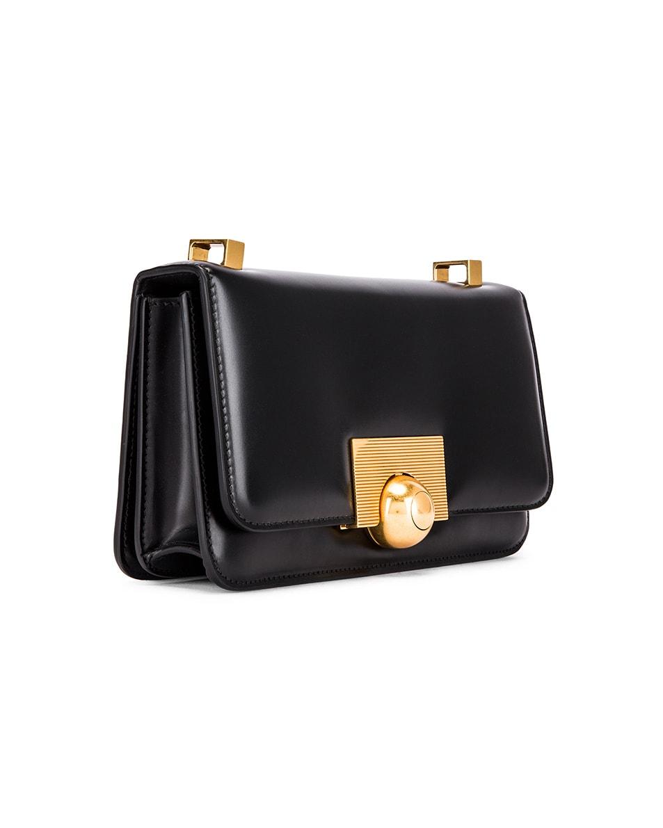 Image 4 of Bottega Veneta Brushed Leather Bag in Black & Gold