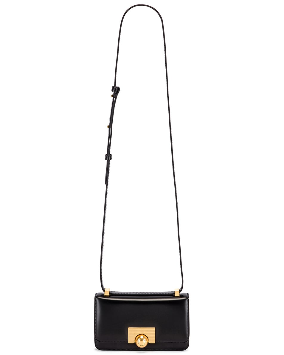 Image 6 of Bottega Veneta Brushed Leather Bag in Black & Gold