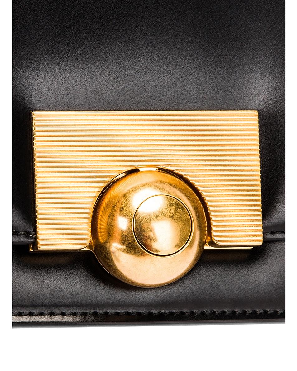 Image 8 of Bottega Veneta Brushed Leather Bag in Black & Gold