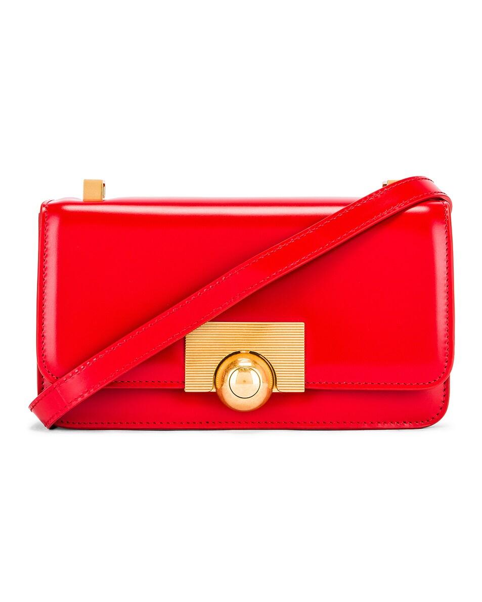 Image 1 of Bottega Veneta Brushed Leather Bag in Bright Red & Gold