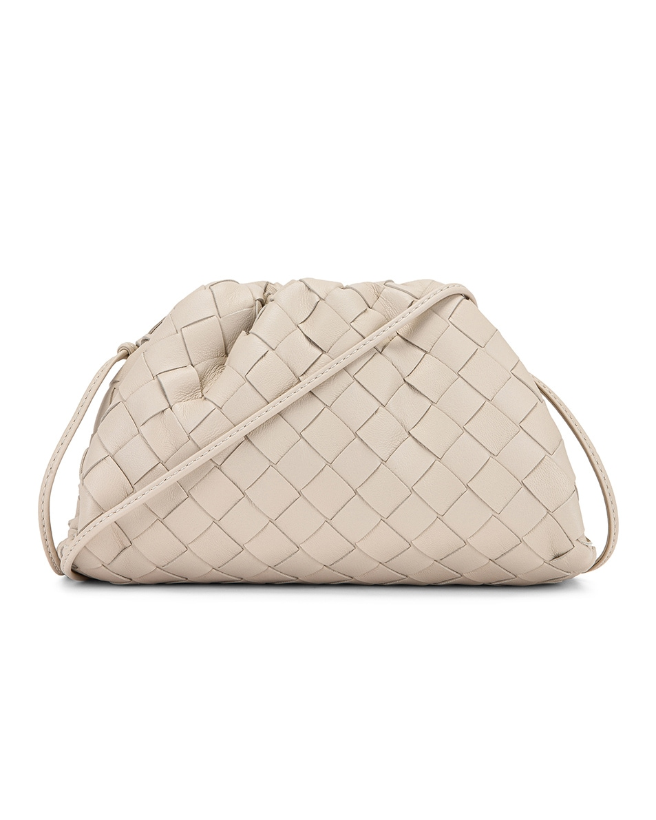Image 1 of Bottega Veneta Small Woven Pouch in Mist