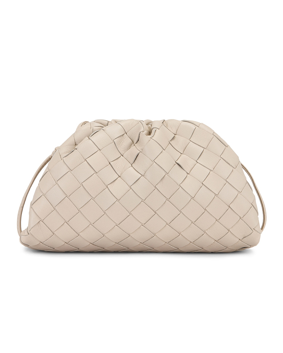 Image 3 of Bottega Veneta Small Woven Pouch in Mist