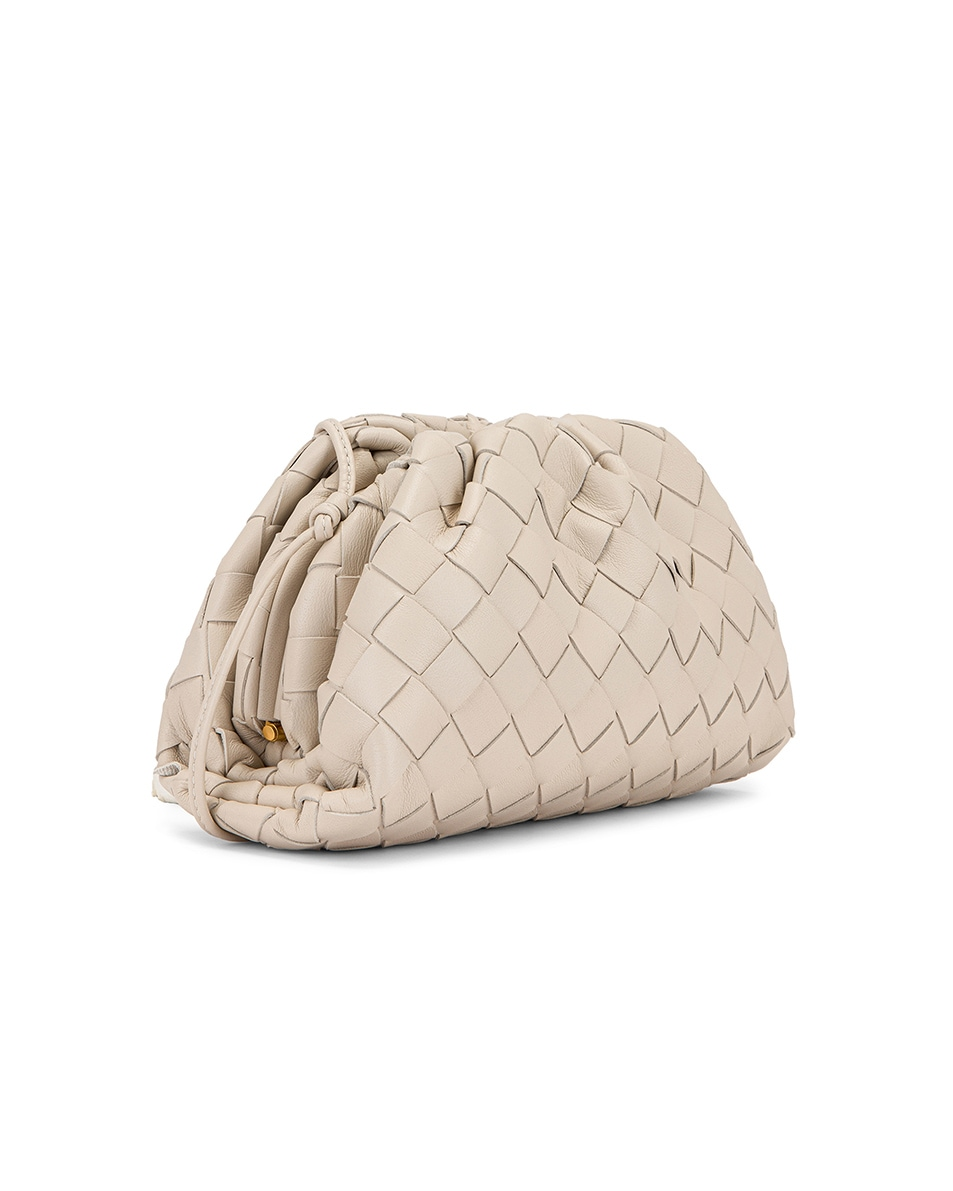 Image 4 of Bottega Veneta Small Woven Pouch in Mist