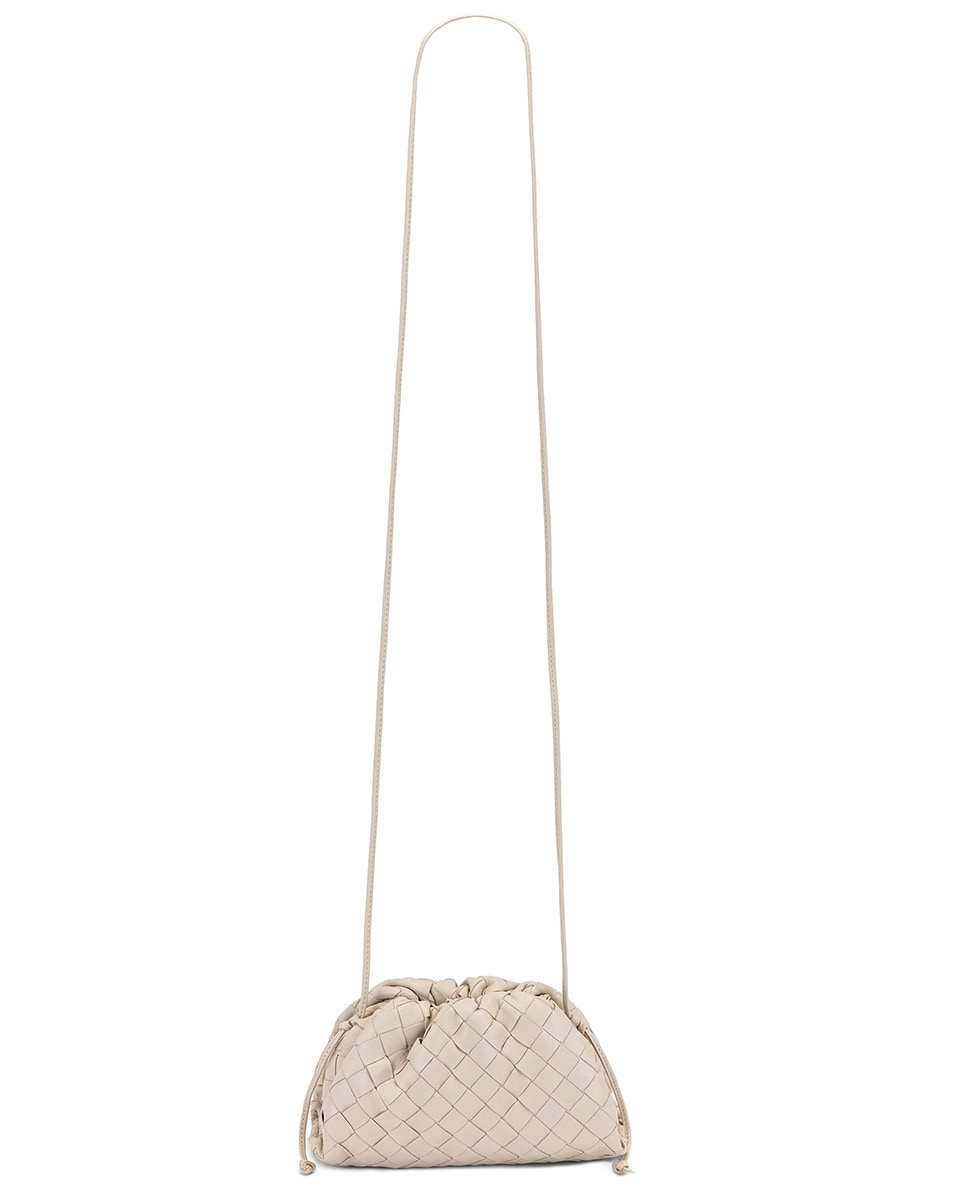 Image 6 of Bottega Veneta Small Woven Pouch in Mist