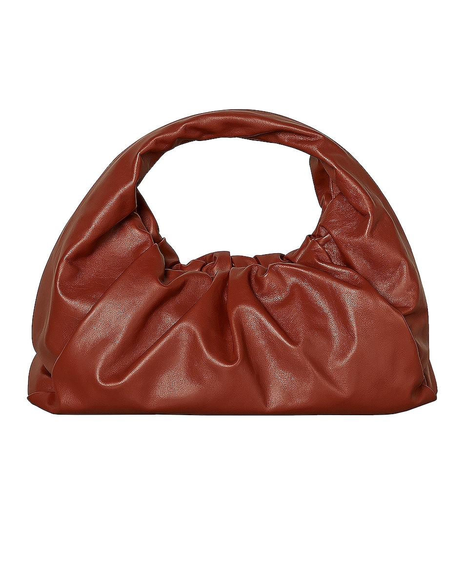 Image 1 of Bottega Veneta Leather Shoulder Bag in Rust & Gold