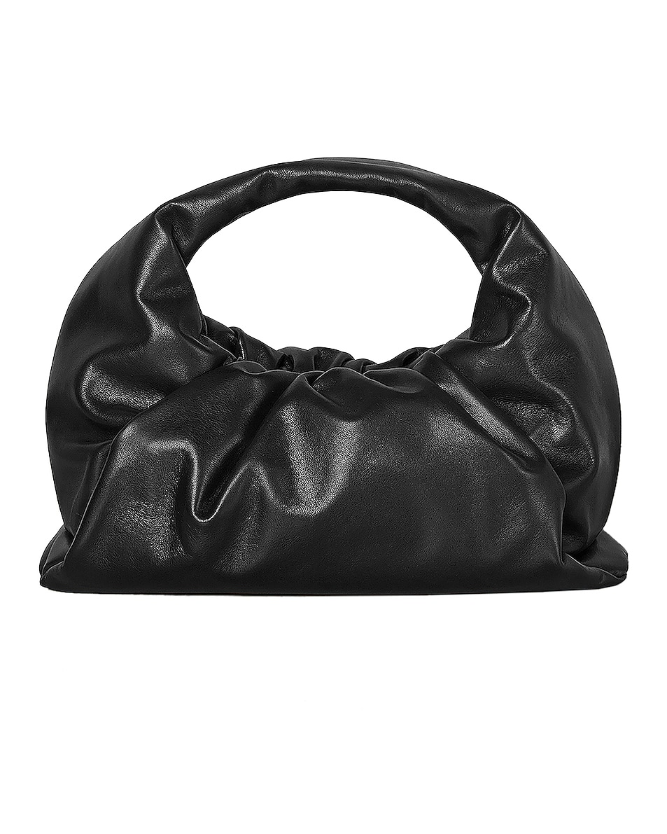 Image 1 of Bottega Veneta Leather Shoulder Bag in Black & Silver