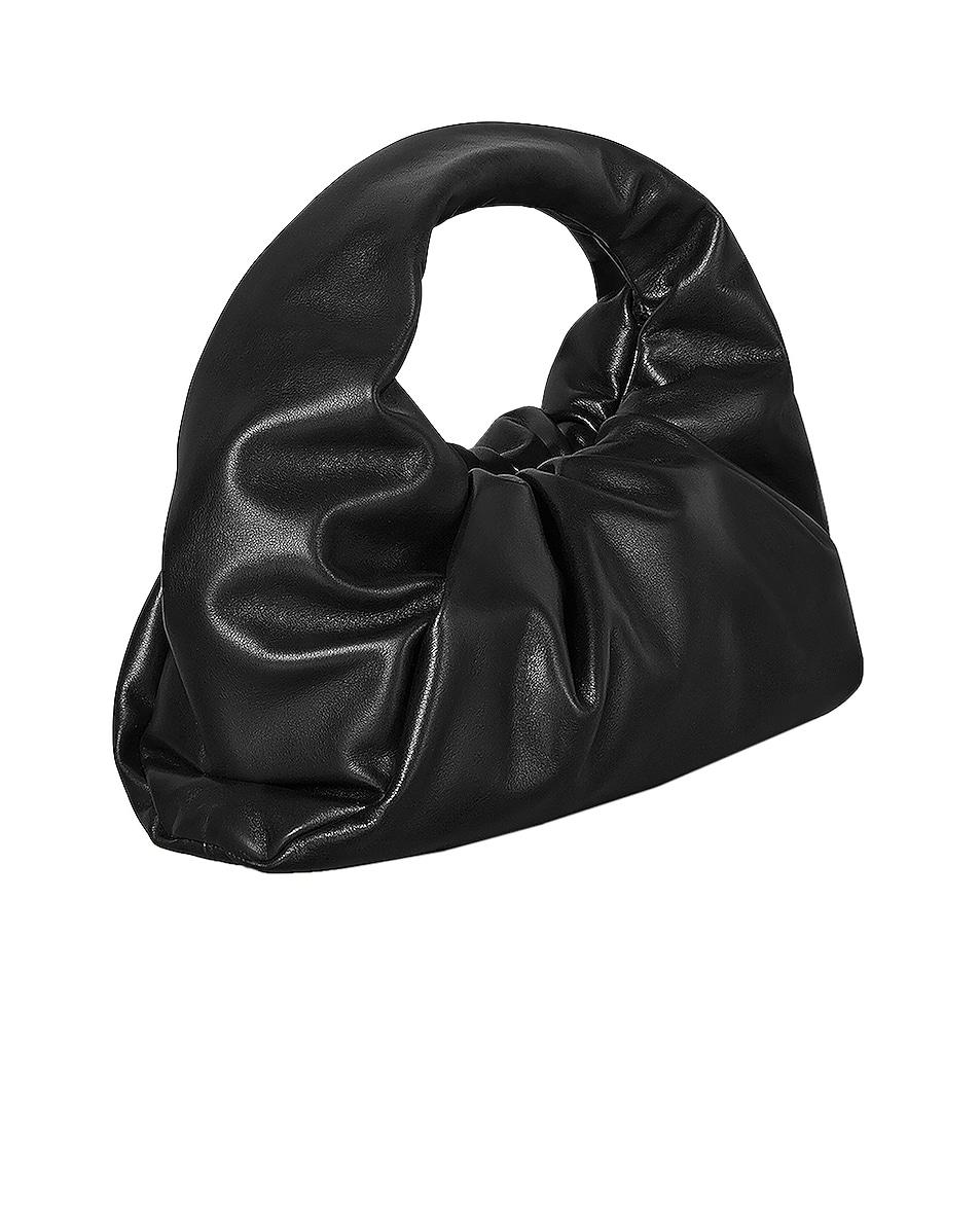 Image 2 of Bottega Veneta Leather Shoulder Bag in Black & Silver