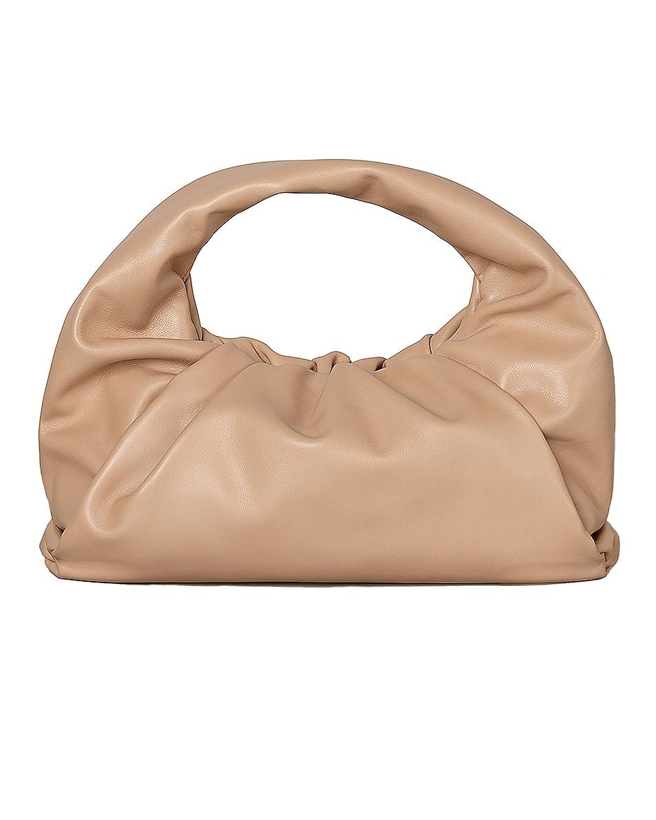 Image 1 of Bottega Veneta Leather Shoulder Bag in Cipria & Gold