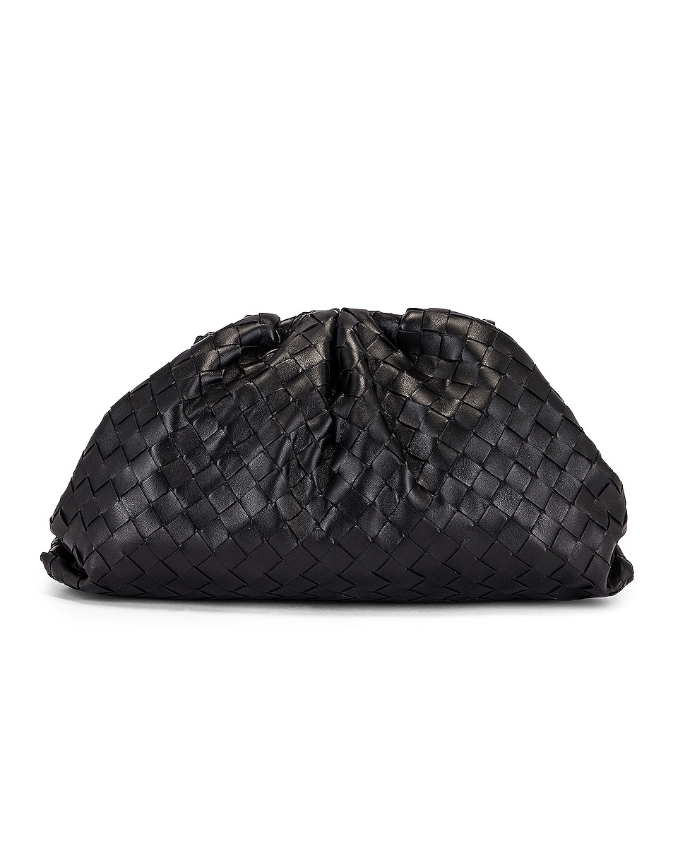 Bottega Veneta The Pouch Clutch In Black