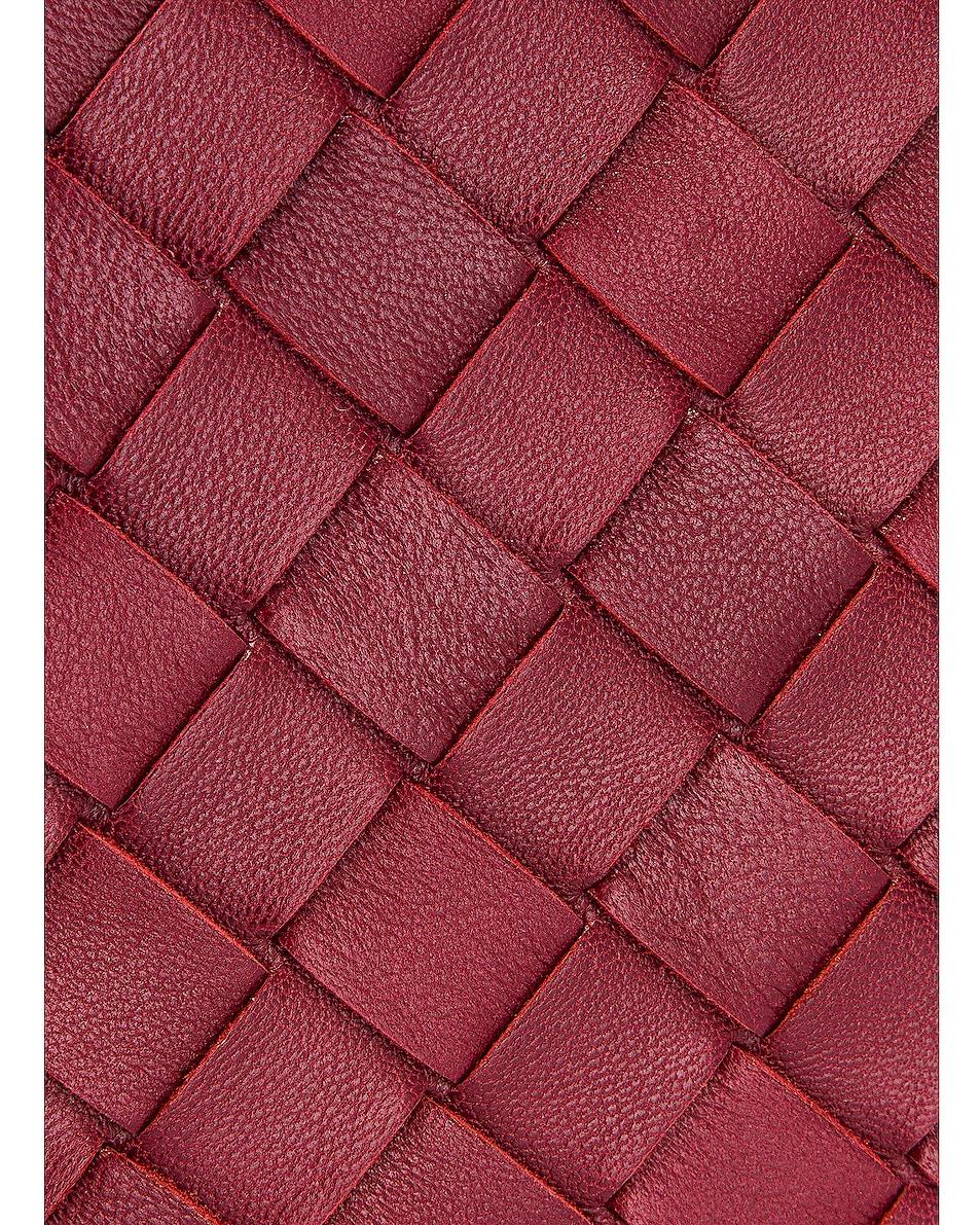Image 8 of Bottega Veneta Leather Woven Crossbody Bag in Bordeaux & Gold