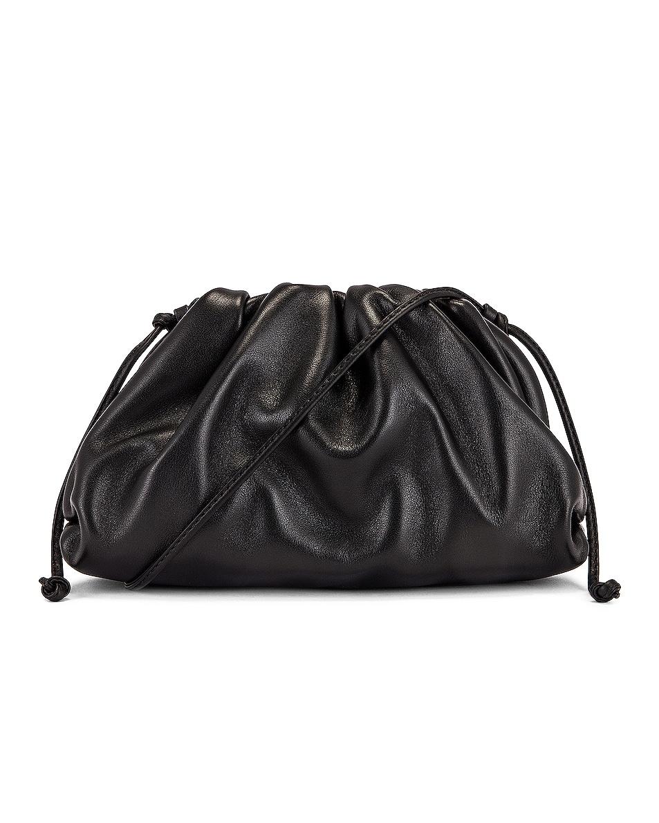 Image 1 of Bottega Veneta The Mini Pouch Crossbody Bag in Black & Silver