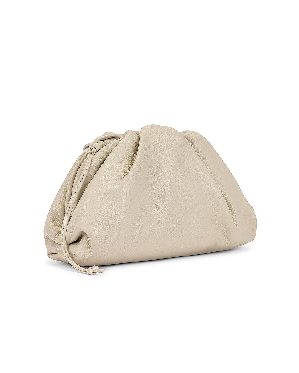 Image 4 of Bottega Veneta Mini Leather Pouch Clutch Crossbody Bag in Plaster & Gold