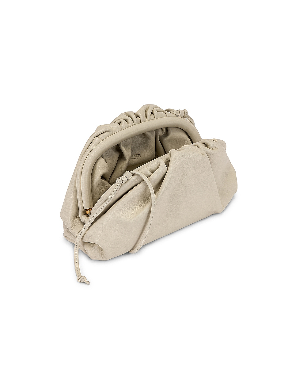 Image 5 of Bottega Veneta Mini Leather Pouch Clutch Crossbody Bag in Plaster & Gold