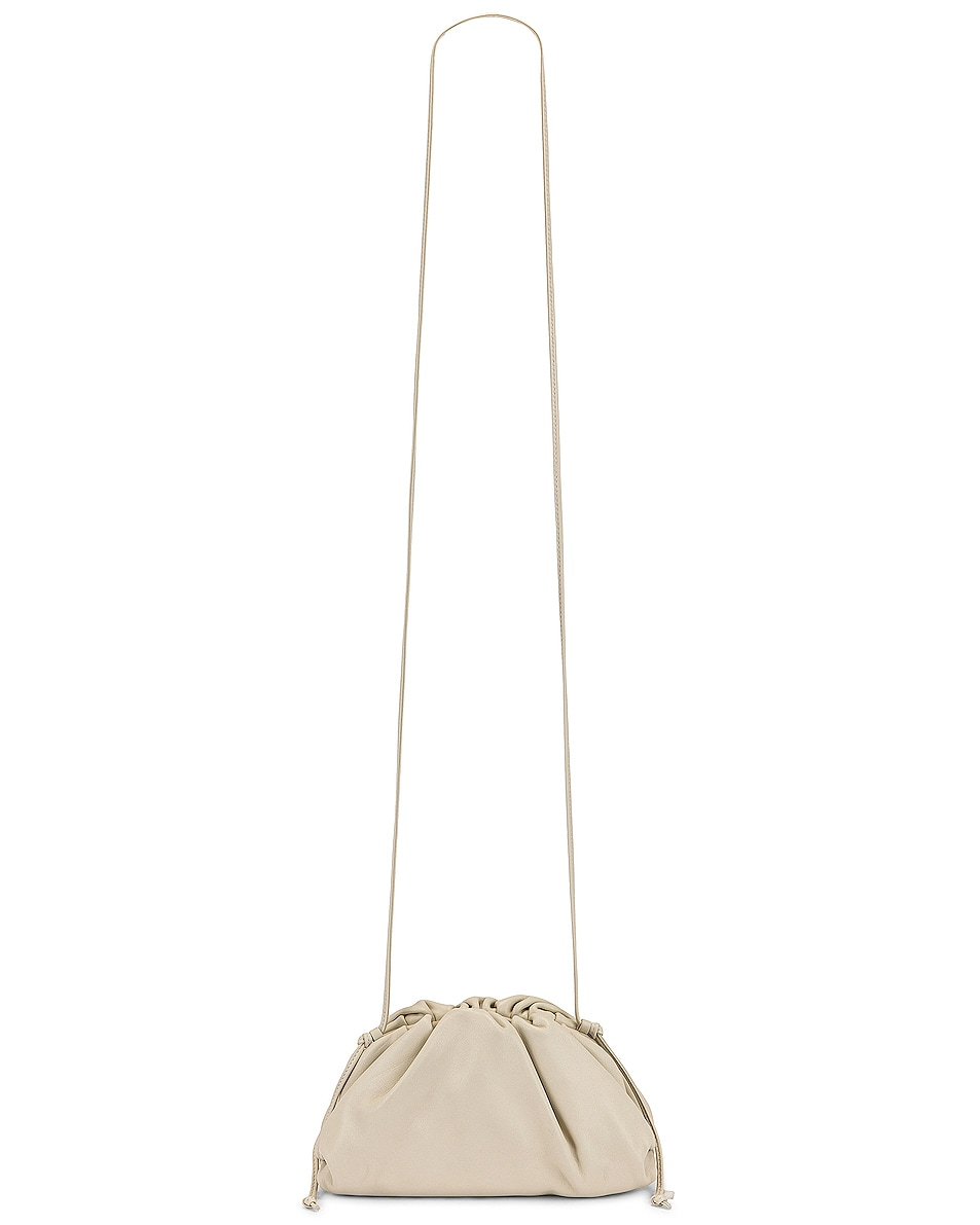 Image 6 of Bottega Veneta Mini Leather Pouch Clutch Crossbody Bag in Plaster & Gold
