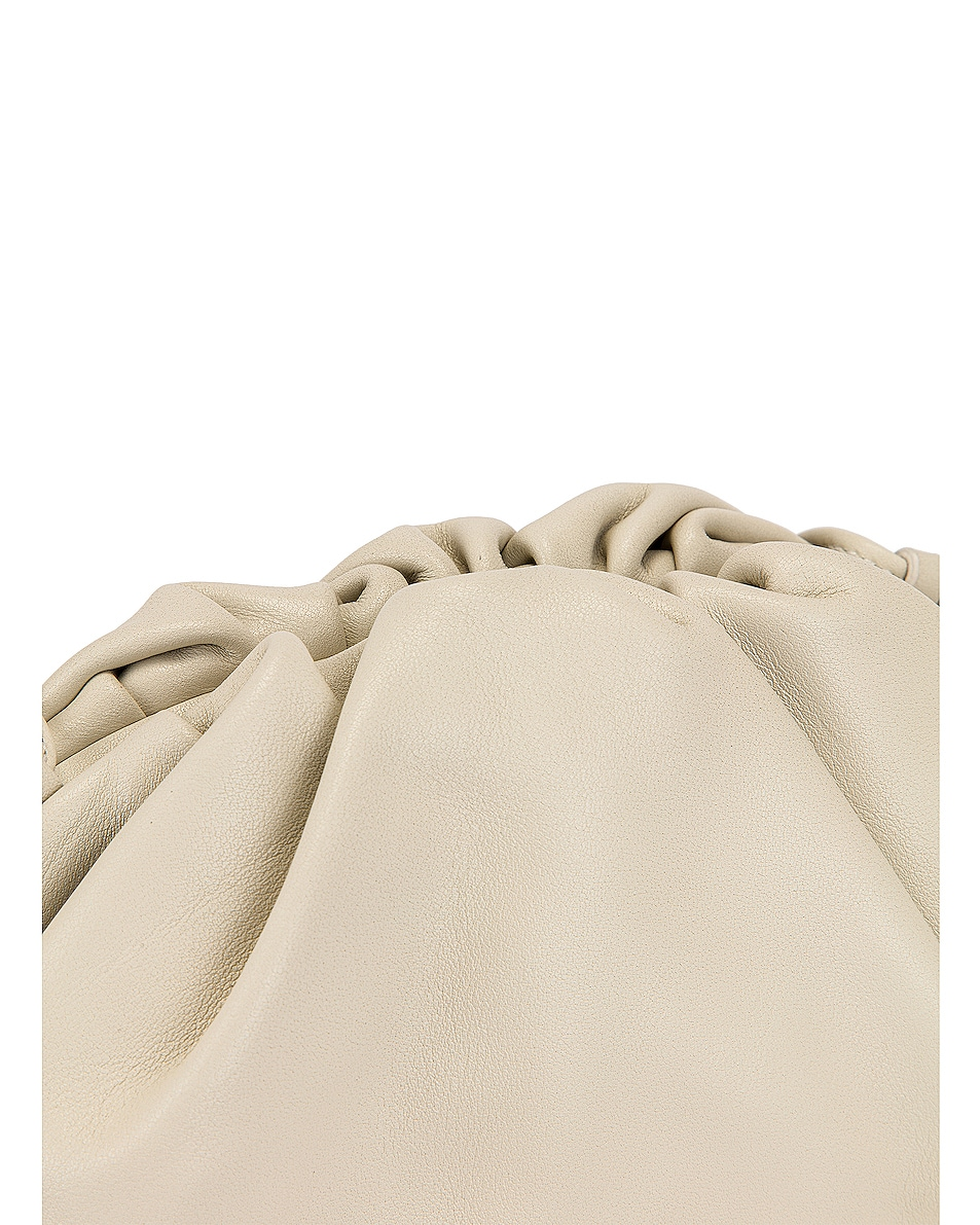 Image 8 of Bottega Veneta Mini Leather Pouch Clutch Crossbody Bag in Plaster & Gold