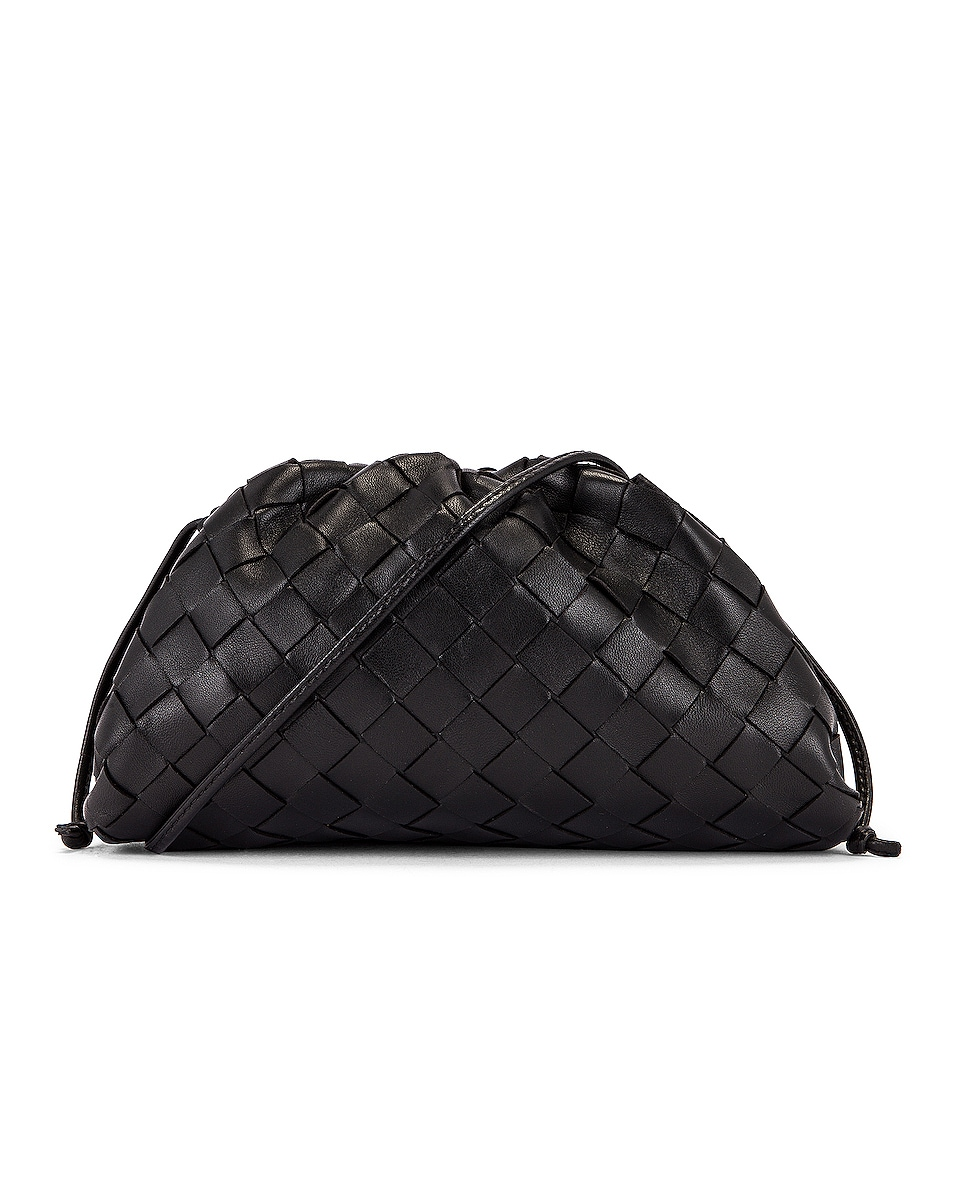 Image 1 of Bottega Veneta The Mini Pouch Crossbody Bag in Black & Silver