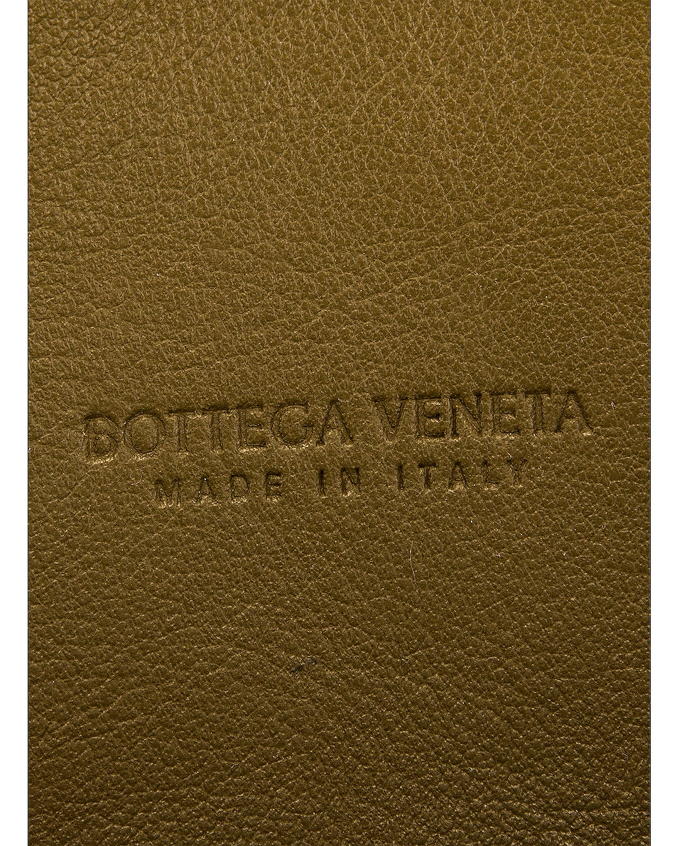 Image 7 of Bottega Veneta Leather Woven Crossbody Bag in Mud & Gold