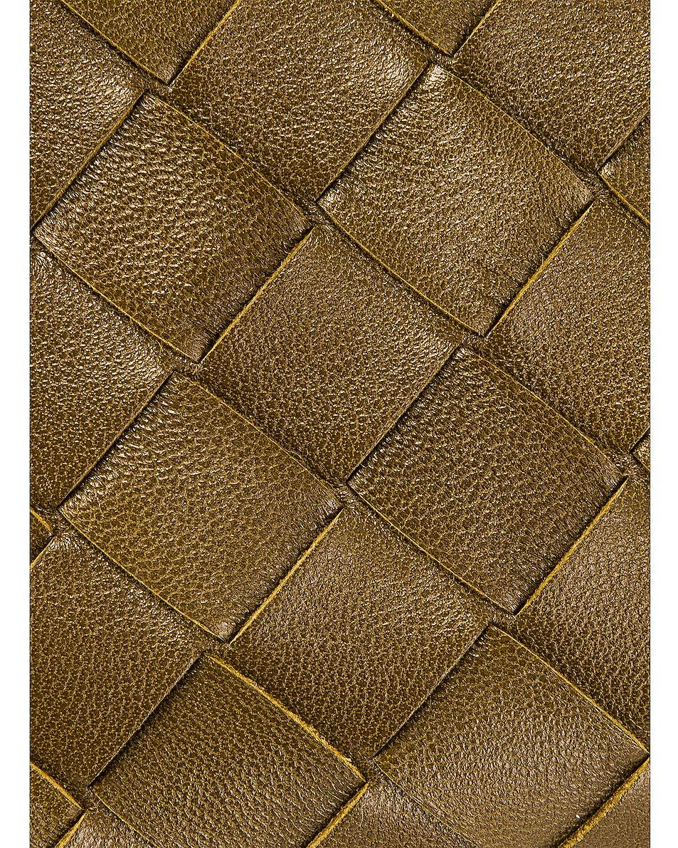 Image 8 of Bottega Veneta Leather Woven Crossbody Bag in Mud & Gold