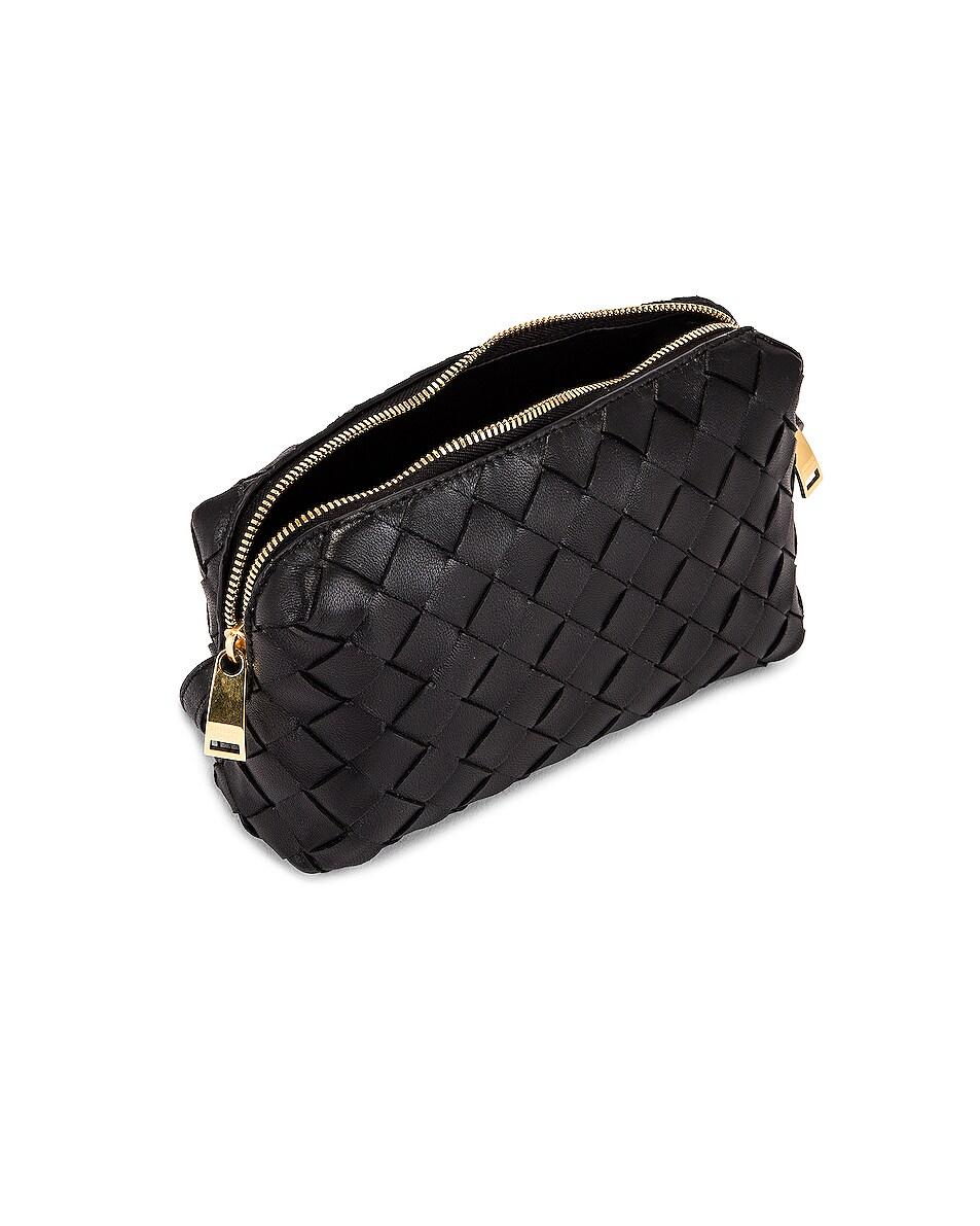 Image 5 of Bottega Veneta Leather Woven Crossbody Bag in Black & Gold