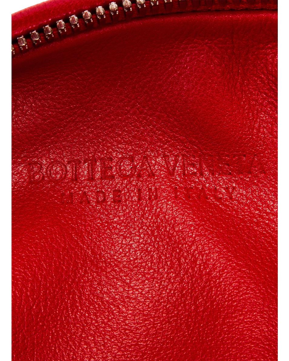 Image 6 of Bottega Veneta Leather Woven Shoulder Bag in Bright Red