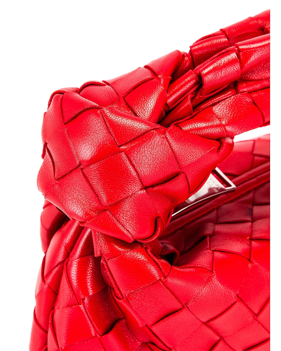 Image 7 of Bottega Veneta Leather Woven Shoulder Bag in Bright Red