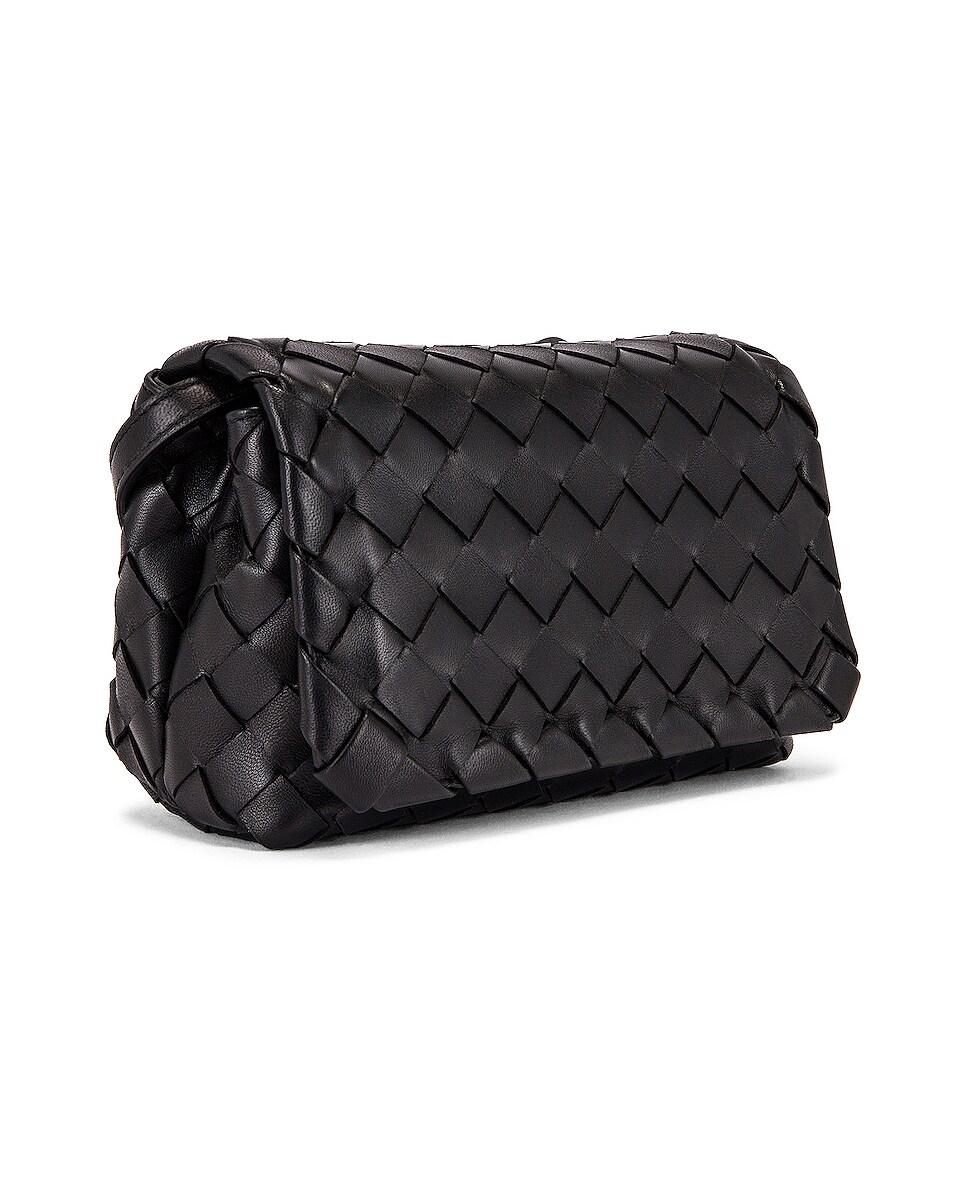 Image 4 of Bottega Veneta Leather Woven Crossbody Bag in Black & Gold