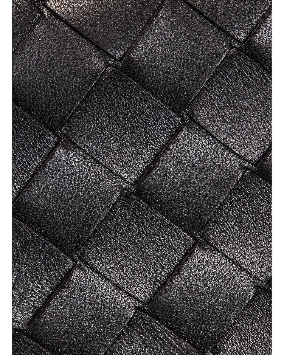 Image 8 of Bottega Veneta Leather Woven Crossbody Bag in Black & Gold