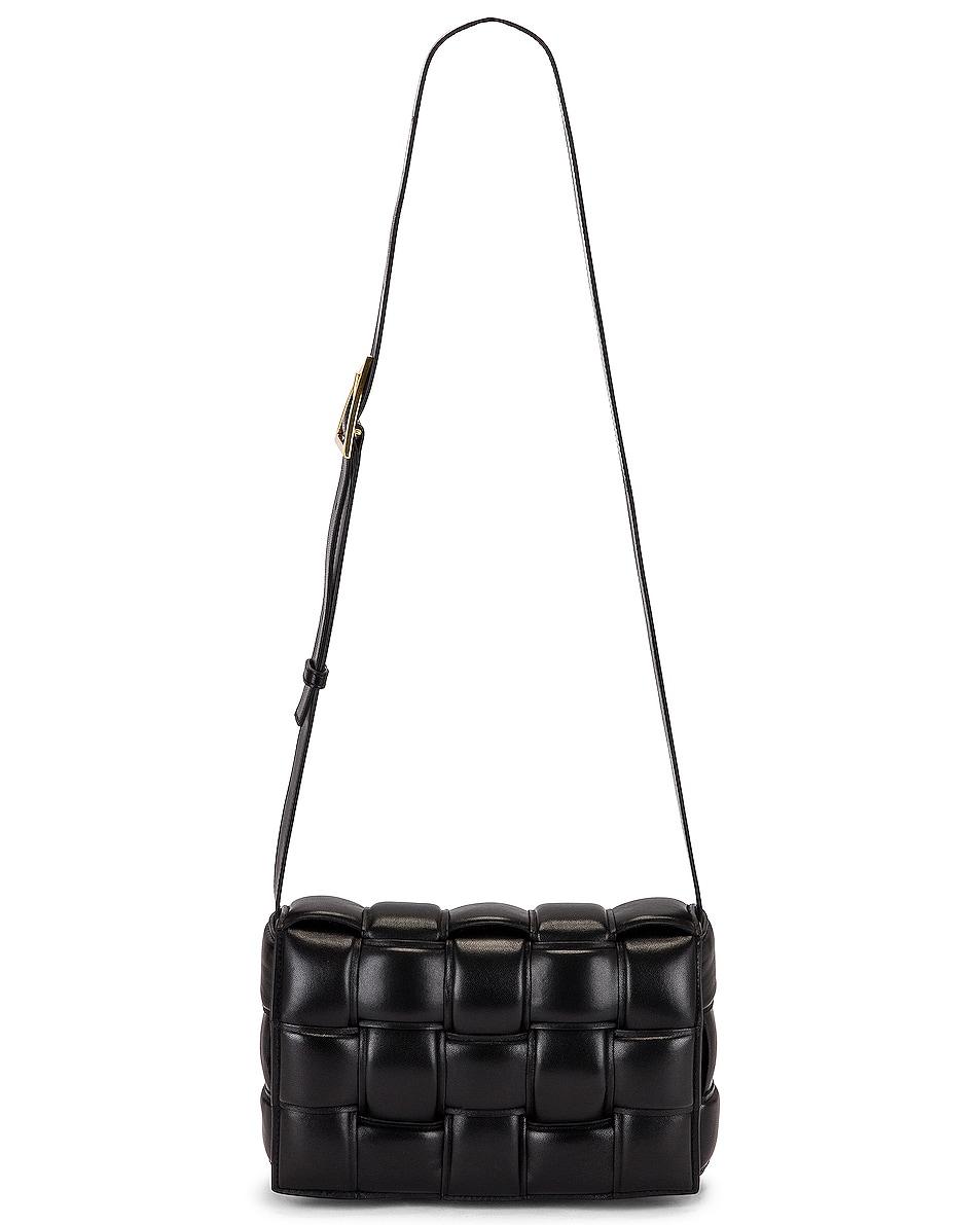 Image 1 of Bottega Veneta Padded Cassette Bag in Black & Gold