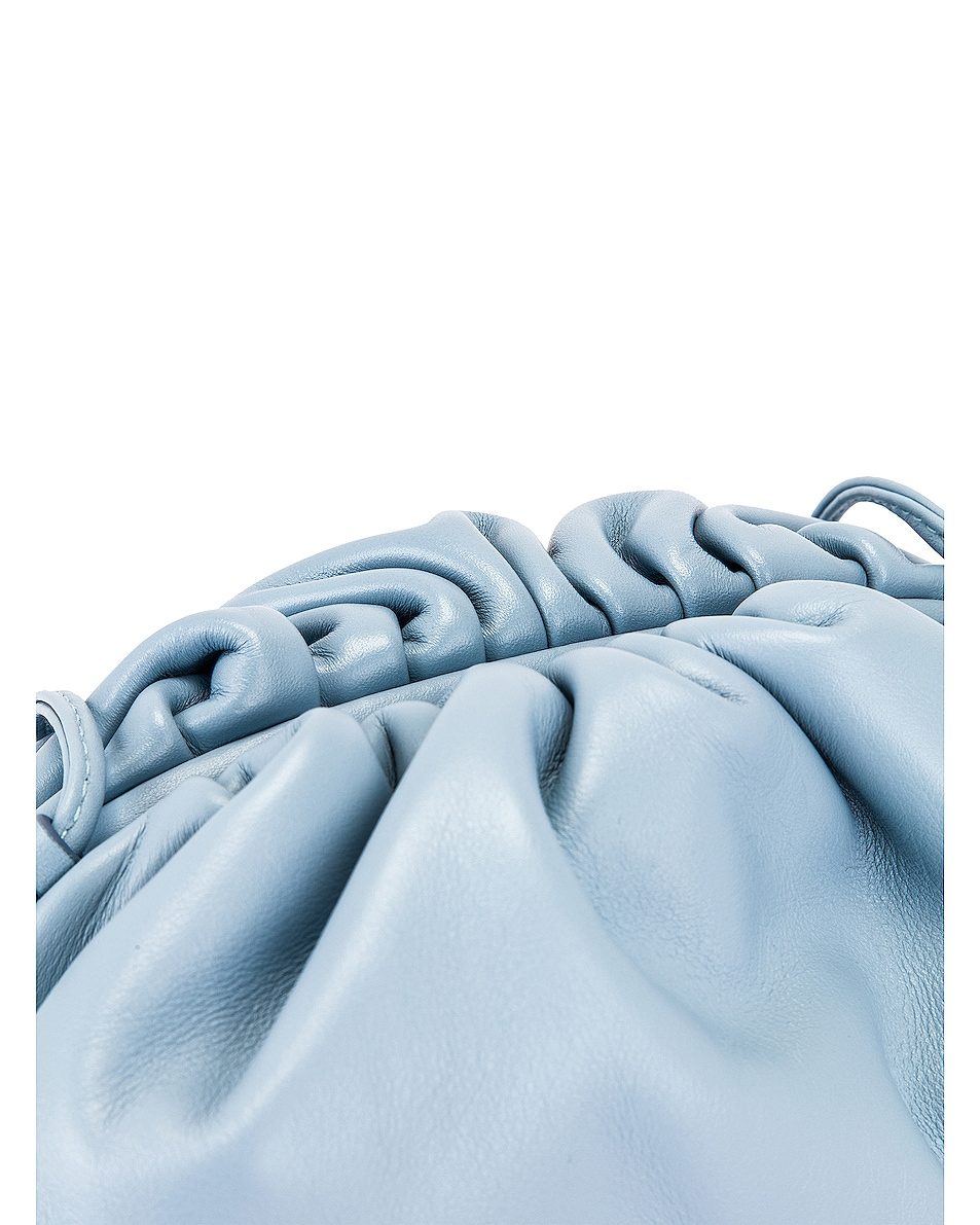 Image 8 of Bottega Veneta The Pouch 20 Clutch Bag in Ice & Gold