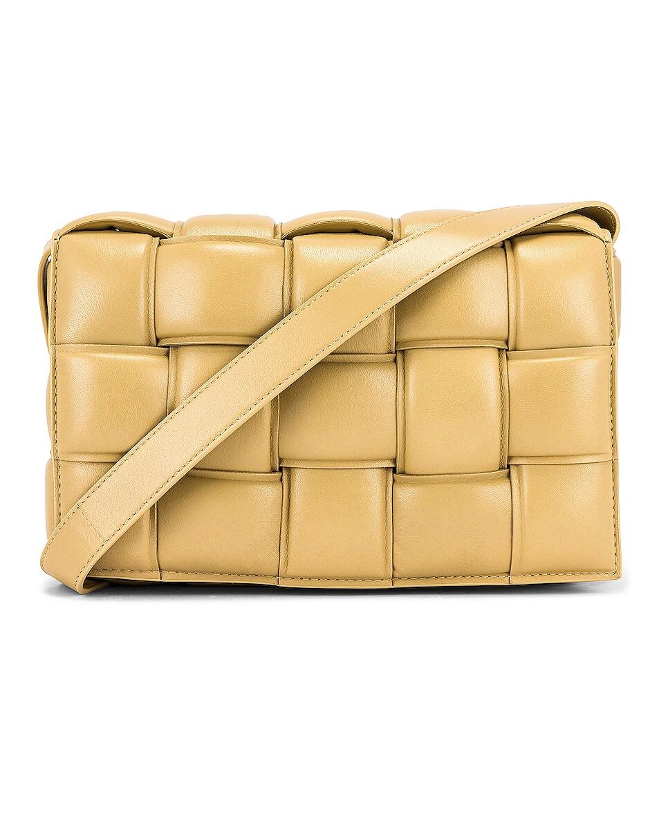 Image 1 of Bottega Veneta Padded Cassette Bag in Tapioca & Gold