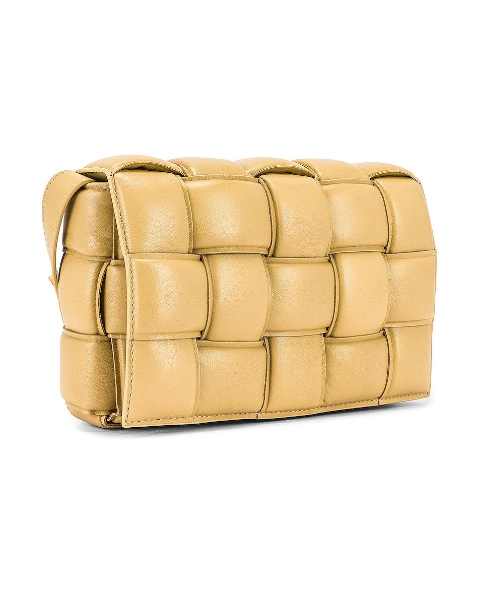 Image 4 of Bottega Veneta Padded Cassette Bag in Tapioca & Gold