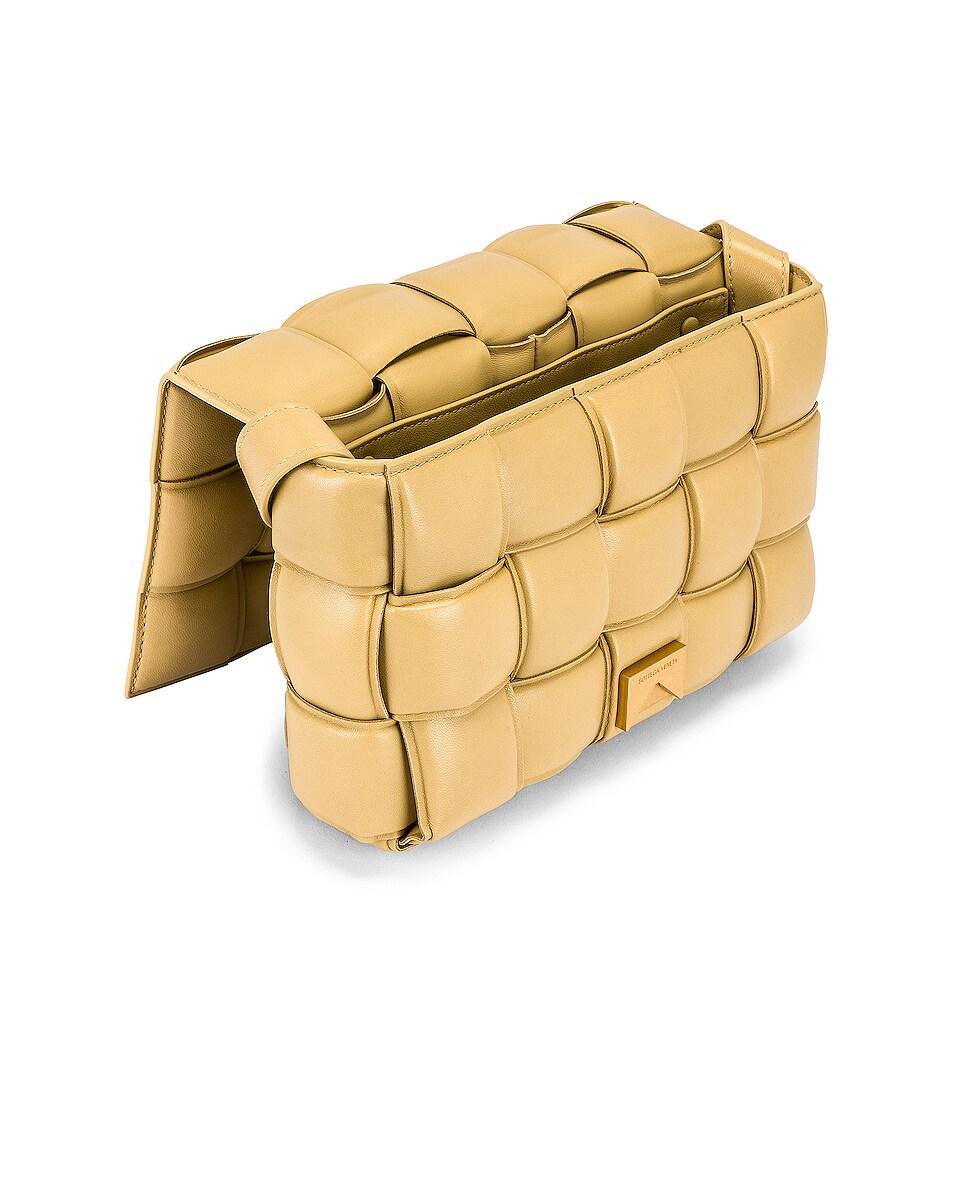 Image 5 of Bottega Veneta Padded Cassette Bag in Tapioca & Gold