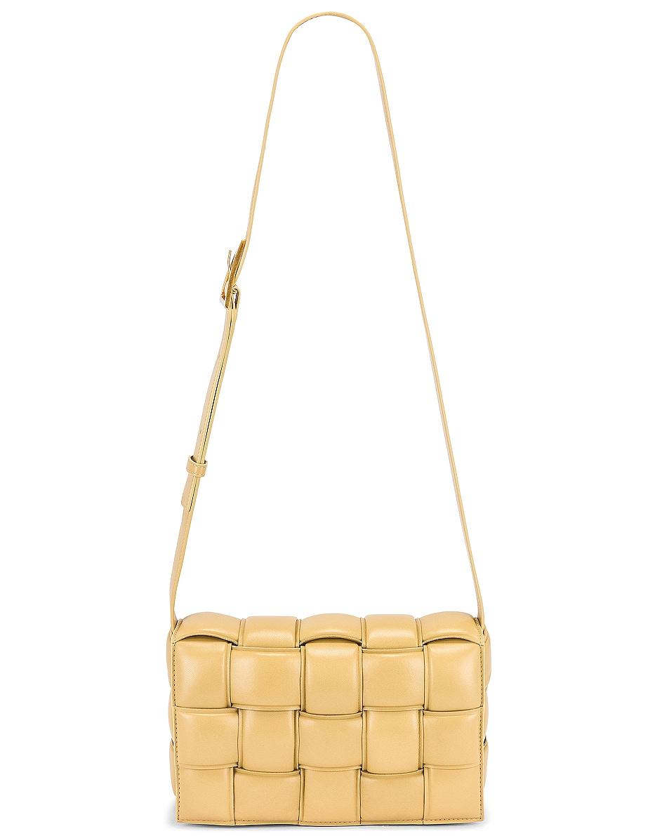 Image 6 of Bottega Veneta Padded Cassette Bag in Tapioca & Gold