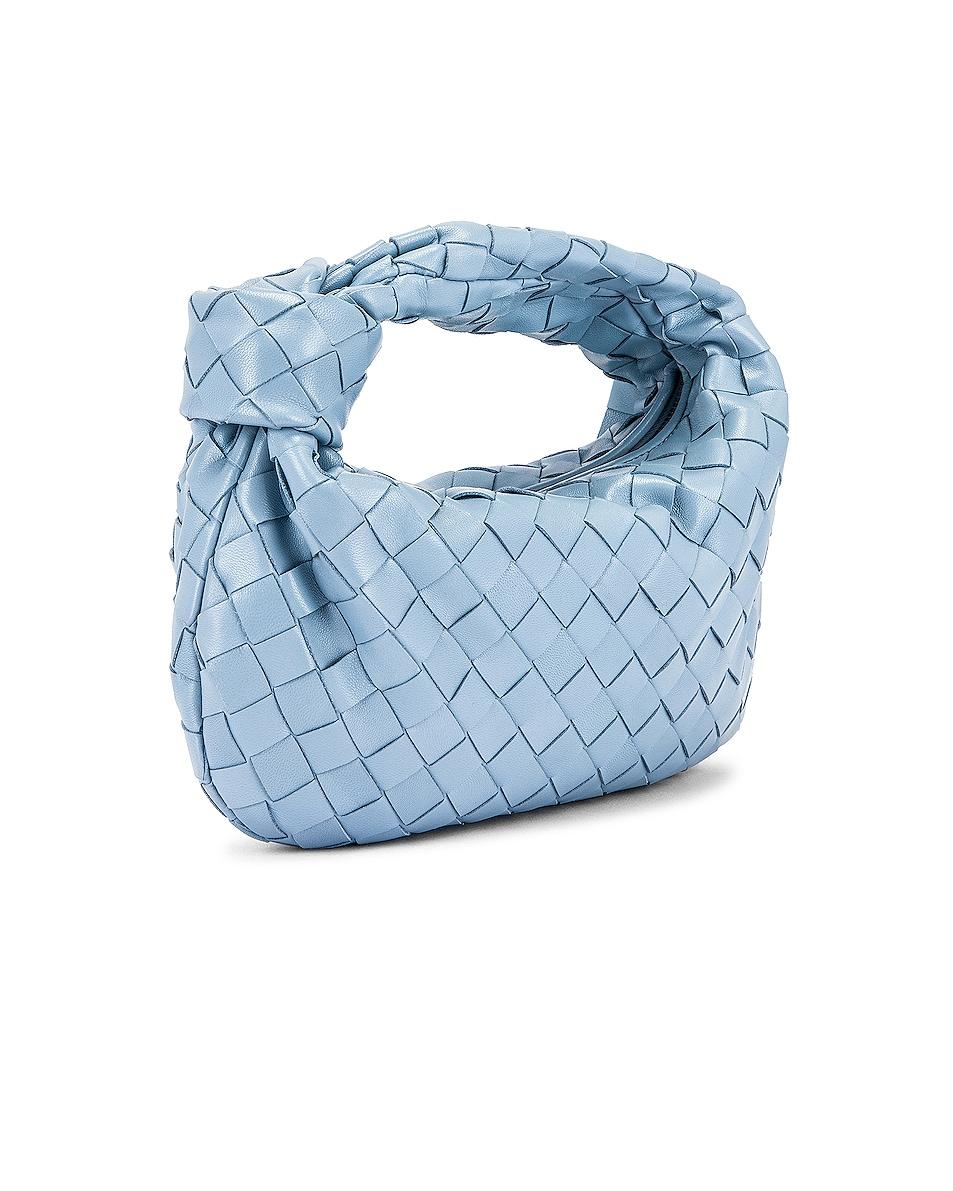 Image 4 of Bottega Veneta Woven Shoulder Bag in Ice & Silver