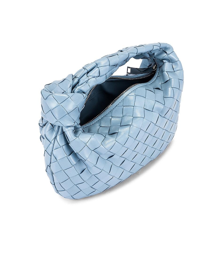 Image 5 of Bottega Veneta Woven Shoulder Bag in Ice & Silver