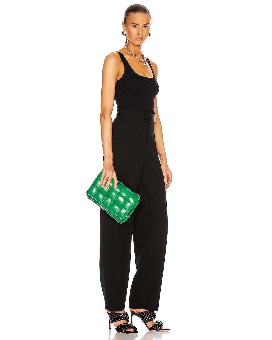 Image 2 of Bottega Veneta Padded Cassette Bag in Racing Green & Gold
