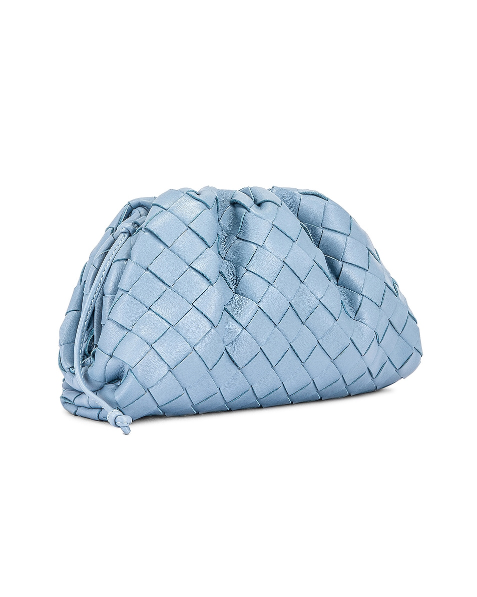 Image 4 of Bottega Veneta Woven The Pouch 20 Clutch Bag in Ice & Silver