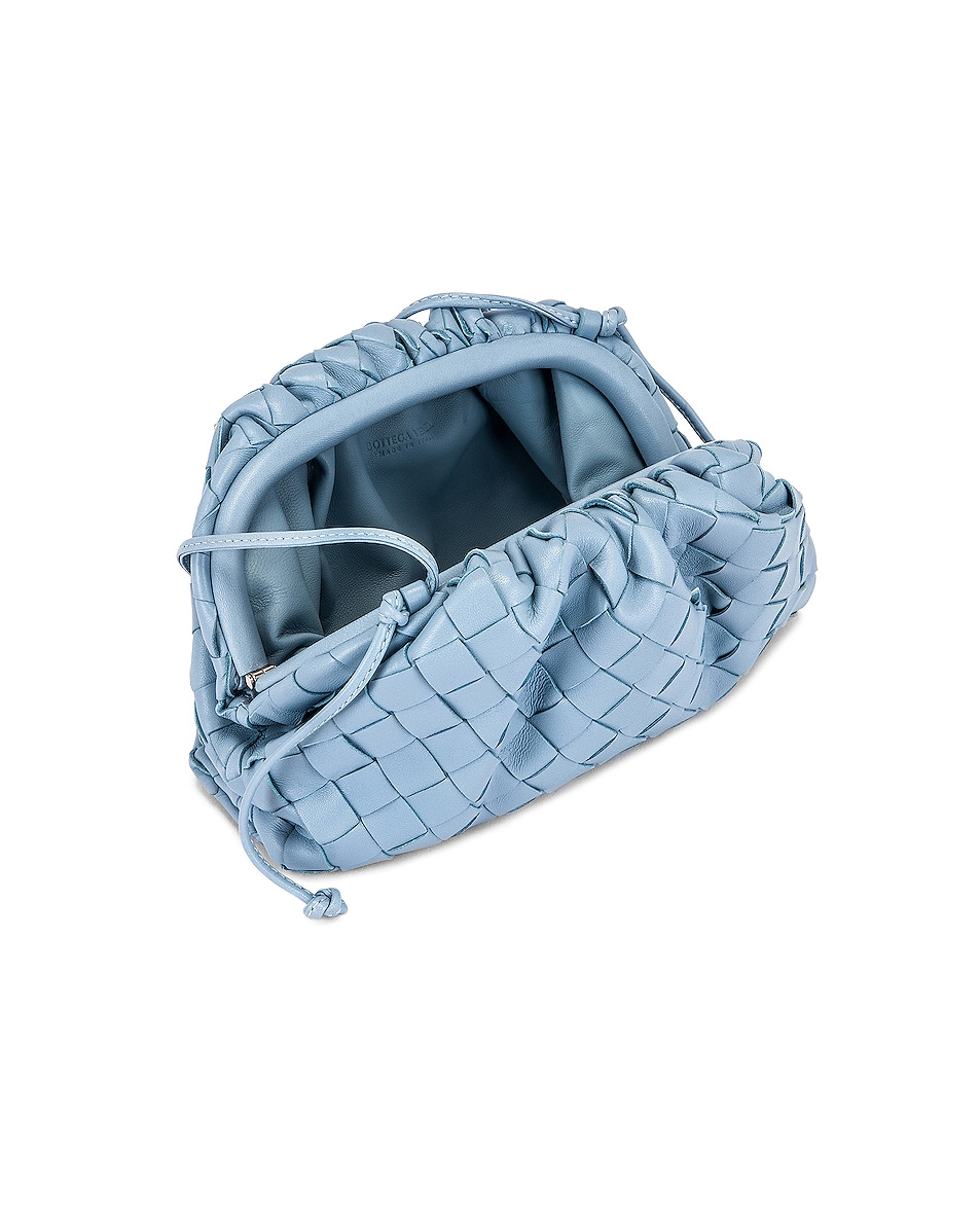 Image 5 of Bottega Veneta Woven The Pouch 20 Clutch Bag in Ice & Silver