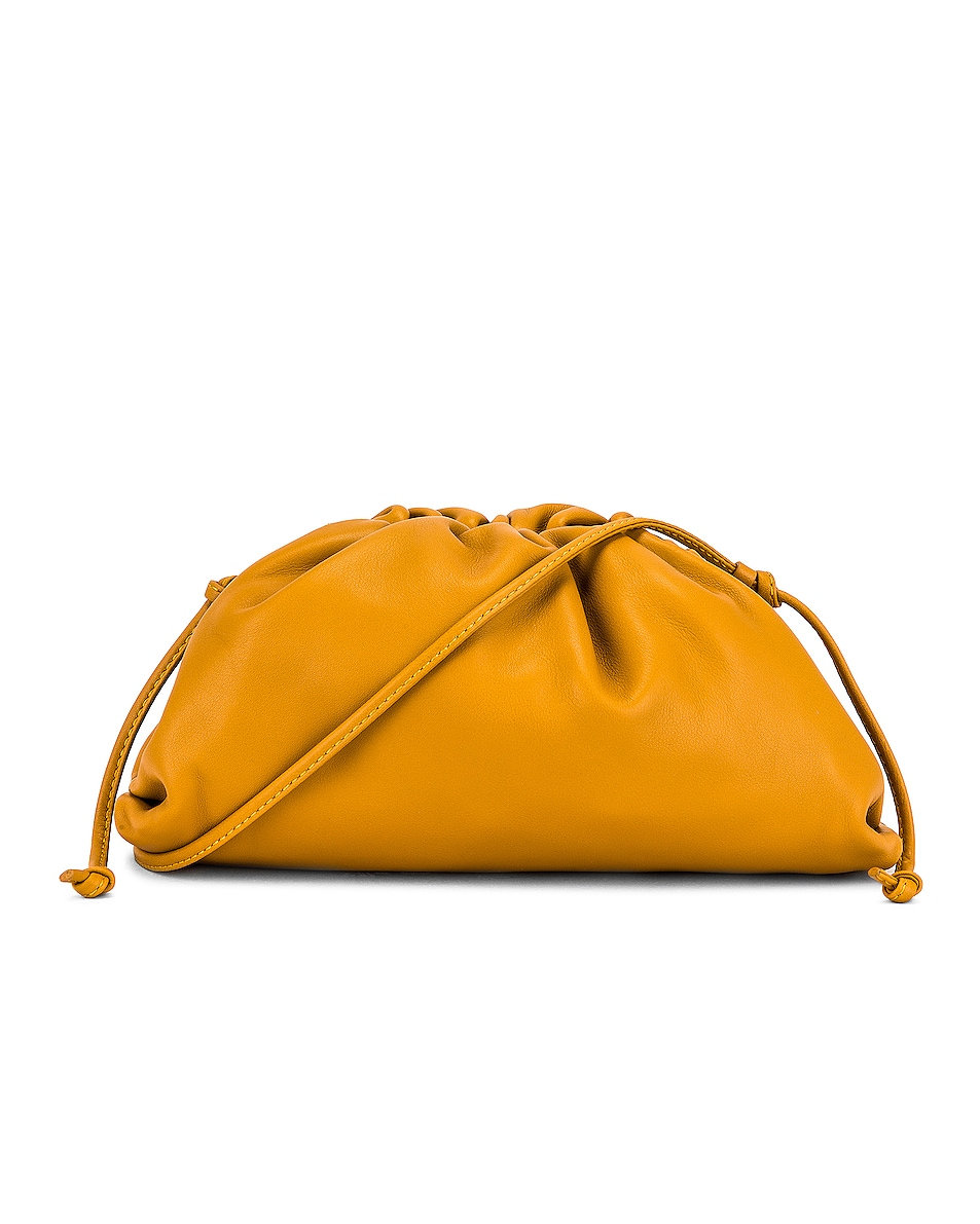 Image 1 of Bottega Veneta The Pouch 20 Clutch Bag in Ocra & Gold