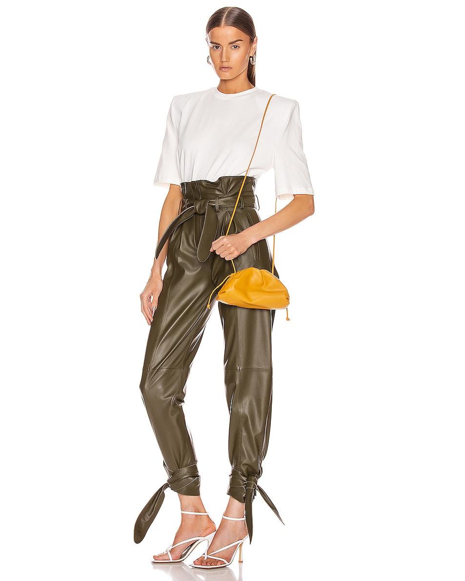 Image 2 of Bottega Veneta The Pouch 20 Clutch Bag in Ocra & Gold