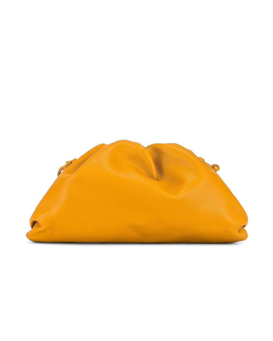 Image 3 of Bottega Veneta The Pouch 20 Clutch Bag in Ocra & Gold