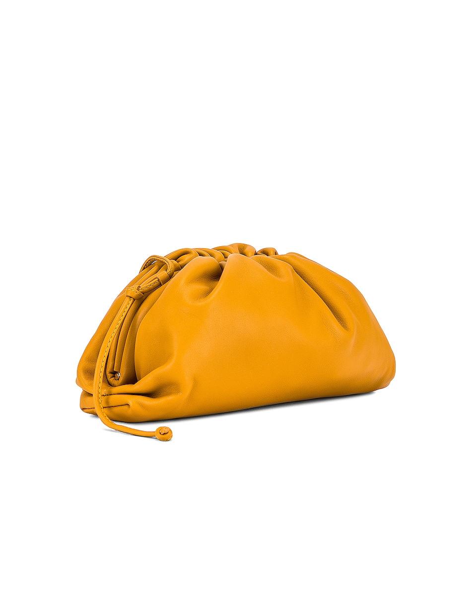 Image 4 of Bottega Veneta The Pouch 20 Clutch Bag in Ocra & Gold