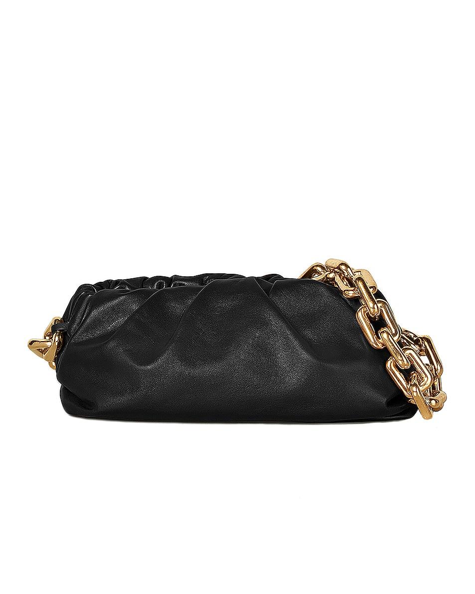 Image 1 of Bottega Veneta The Pouch Chain Bag in Black & Gold