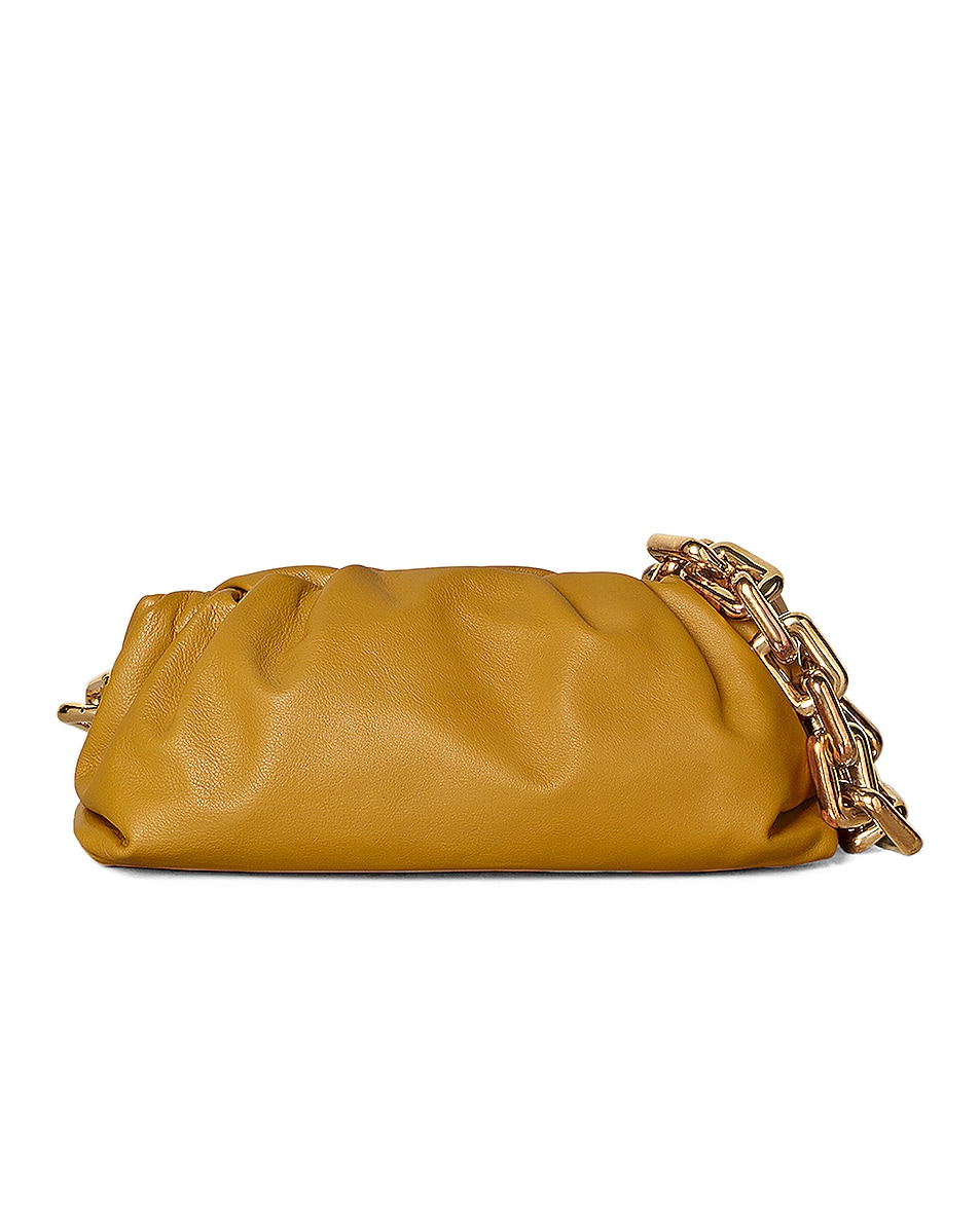 Image 1 of Bottega Veneta The Pouch Chain Bag in Ocra & Gold