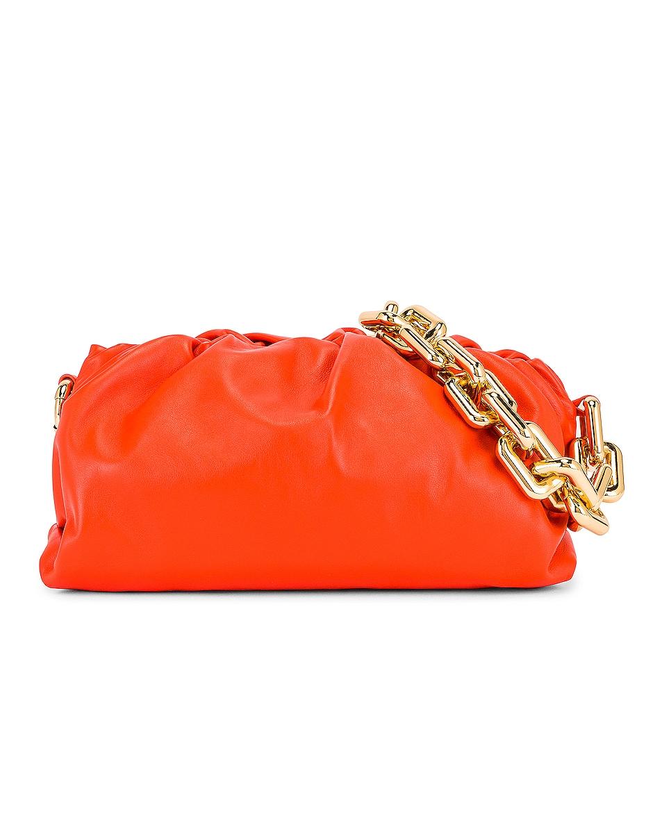 Image 1 of Bottega Veneta The Pouch Chain Bag in Orange & Gold