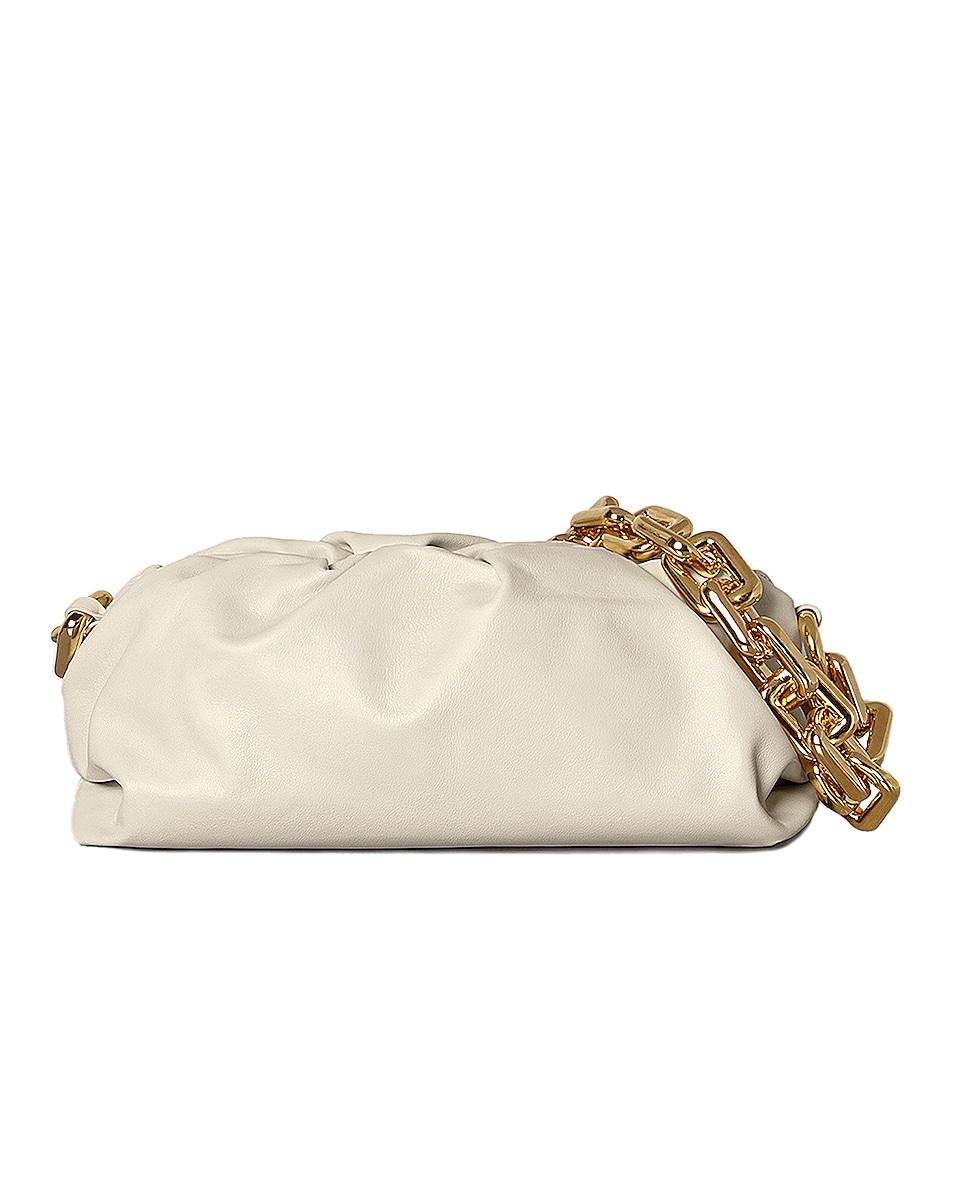 Image 1 of Bottega Veneta The Pouch Chain Bag in Plaster & Gold