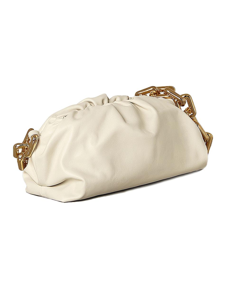Image 3 of Bottega Veneta The Pouch Chain Bag in Plaster & Gold